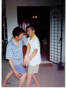 Long sifu pushing hands